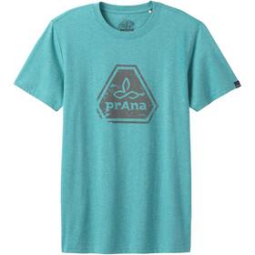 Prana Icon Kurzarm T-Shirt Herren azurite heather